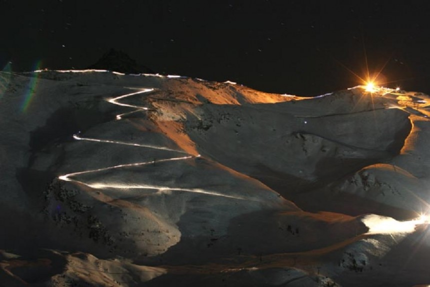 Pila, Aosta: una fiaccolata da record