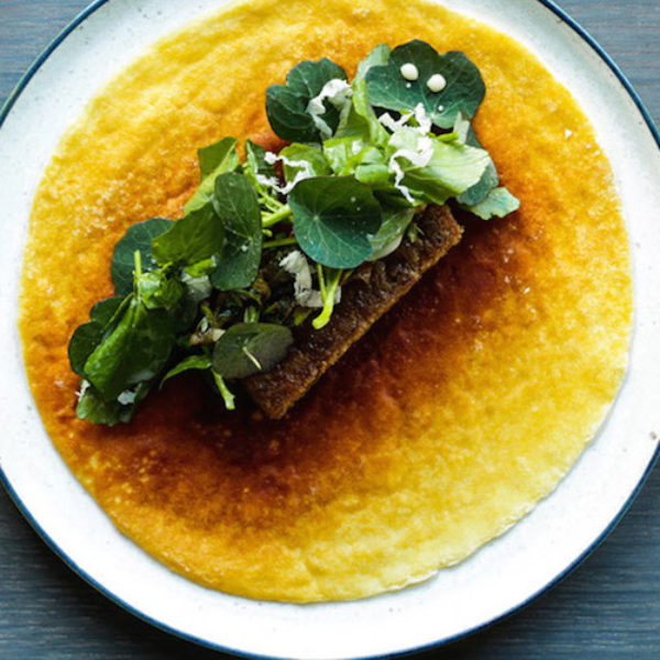 108-caramelized-milkskin-with-grilled-pork-belly-and-spicy-herbs