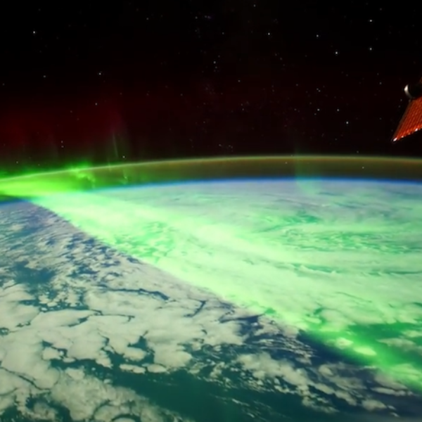 aurora boreale spazio