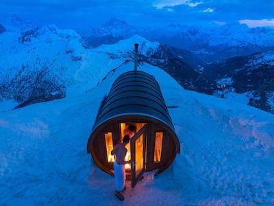 A Cortina il benessere è ad alta quota, nella la sauna più alta delle Dolomiti