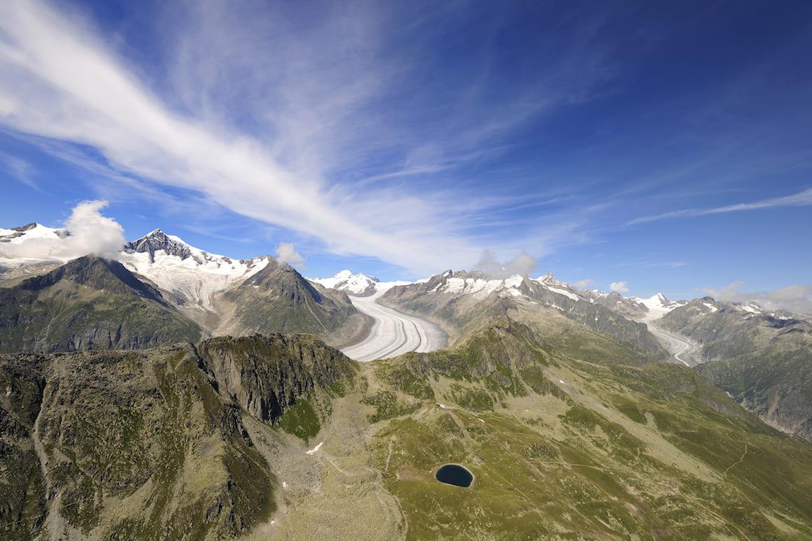 Canton Vallese Ghiacciaio dell'Aletsch Svizzera