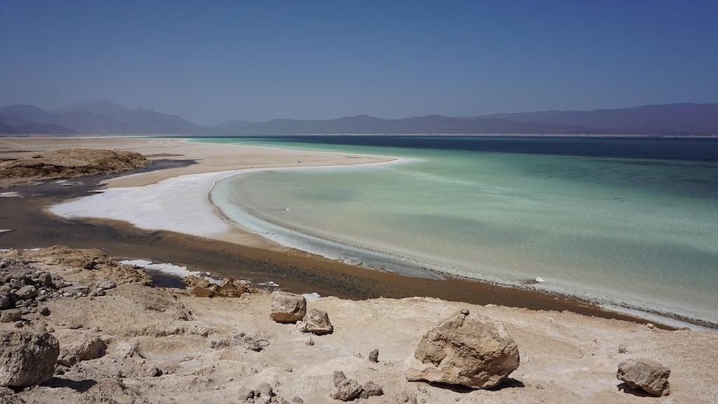Salt Lake Salt Mine Abe Lake Djibouti