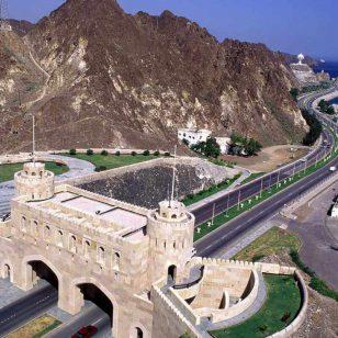 Au sortir du Vieux Muscat